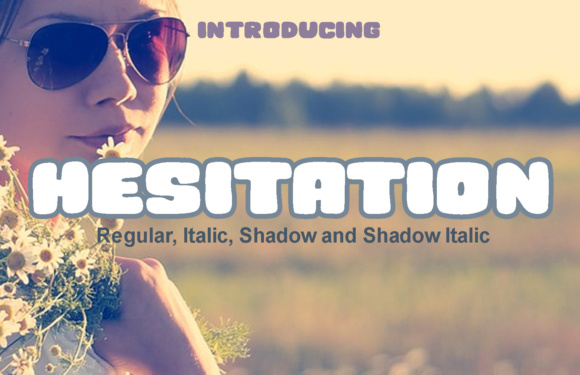 Print on Demand: Hesitation Display Font By vladimirnikolic