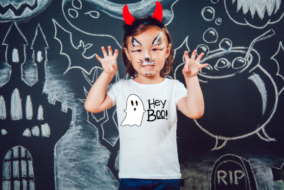 Download Free Hey Boo Halloween Svg Graphic By Missseasonsvinylcuts Creative for Cricut Explore, Silhouette and other cutting machines.