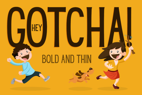 Print on Demand: Hey Gotcha! Sans Serif Font By Corgi Astronaut