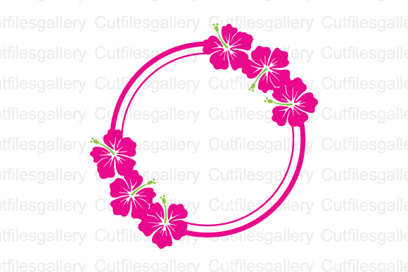Download Free Hibiscus Monogram Frame Monogram Graphic By Cutfilesgallery for Cricut Explore, Silhouette and other cutting machines.