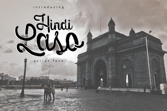 Print on Demand: Hindi Laso Script & Handwritten Font By brnk1314
