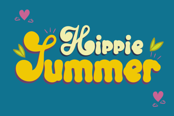 Print on Demand: Hippie Summer Display Font By Lickable Pixels