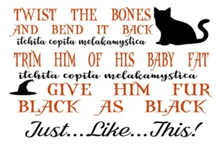 Hocus Pocus Cat Spell Graphic By Family Creations Creative Fabrica
