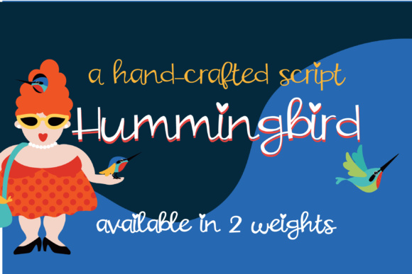 Print on Demand: Hummingbird Script & Handwritten Font By Illustration Ink - Image 1