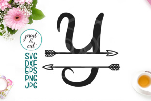Download Free Individual Letter Y Monogram Letters With Arrows Grafico Por for Cricut Explore, Silhouette and other cutting machines.