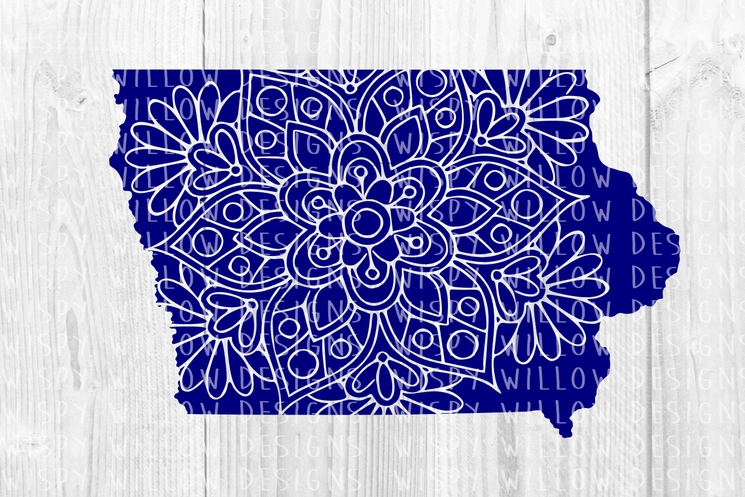 Iowa Ia Floral Mandala State Cut File Graphic By