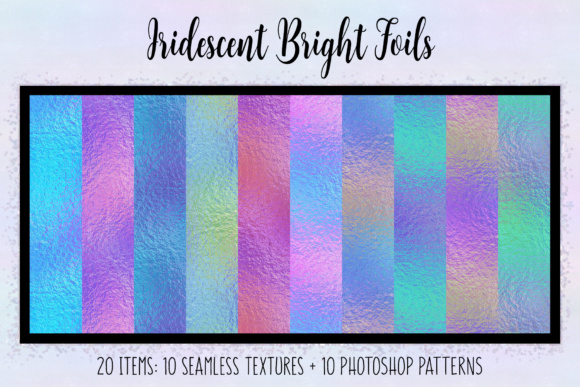 Print on Demand: Iridescent Bright Foils Graphic Textures By JulieCampbellDesigns