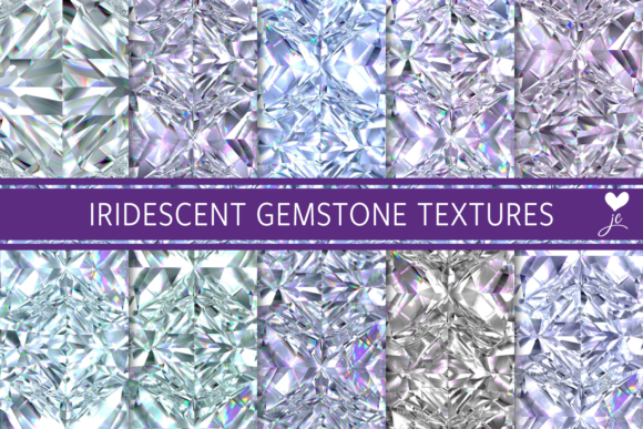 Print on Demand: Iridescent Gemstone Textures Graphic Textures By JulieCampbellDesigns - Image 1
