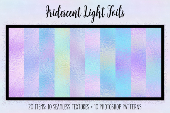 Print on Demand: Iridescent Light Foils Graphic Textures By JulieCampbellDesigns