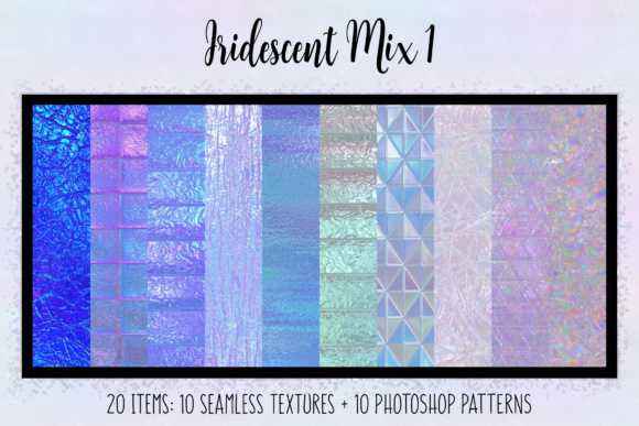 Print on Demand: Iridescent Mix 1 Graphic Textures By JulieCampbellDesigns