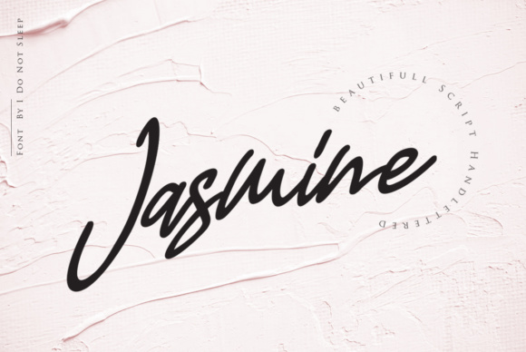 Print on Demand: Jasmine Script & Handwritten Font By I Do Not Sleep