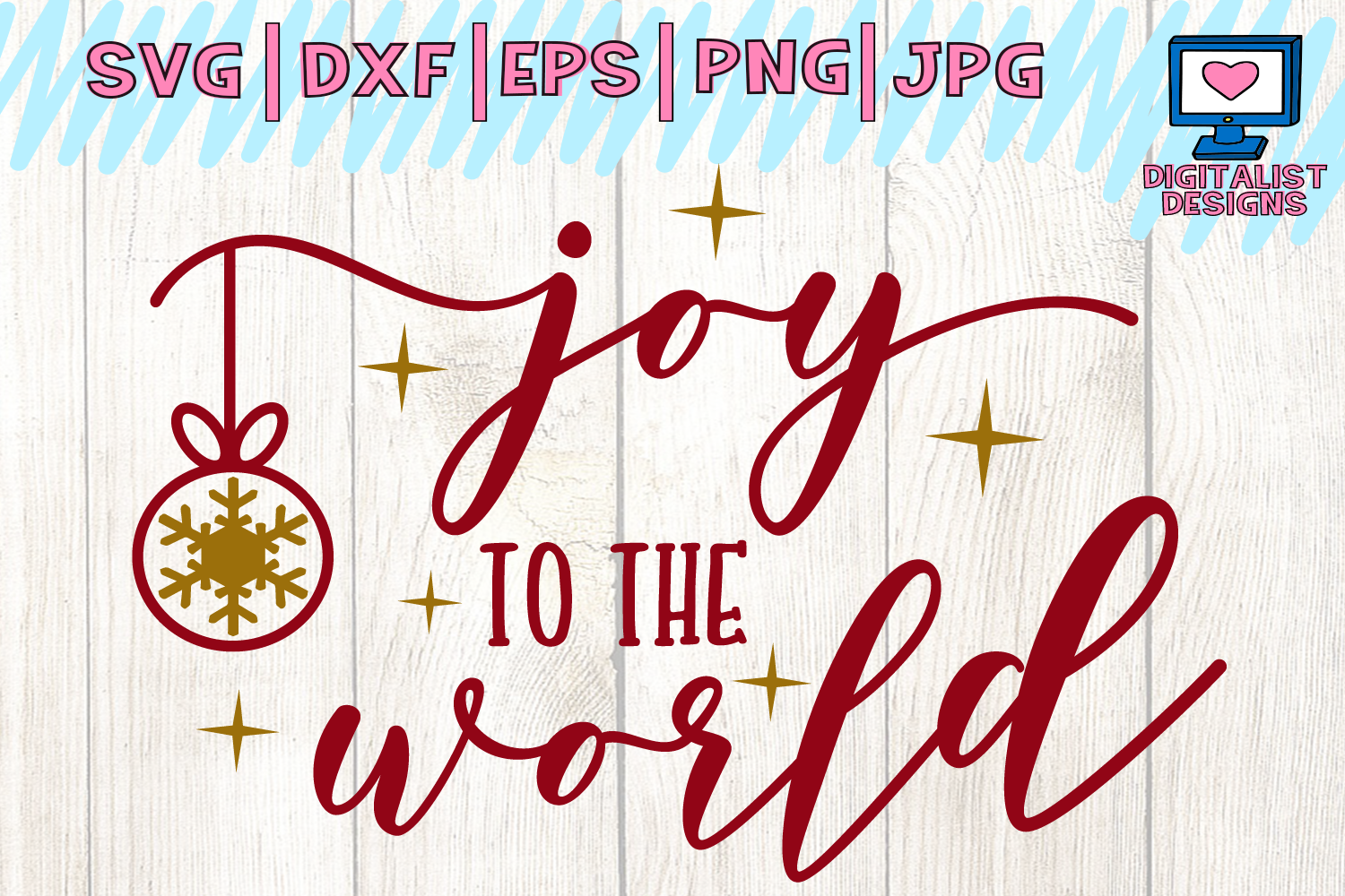 Download Free Joy To The World Svg Christmas Svg Winter Graphic By for Cricut Explore, Silhouette and other cutting machines.