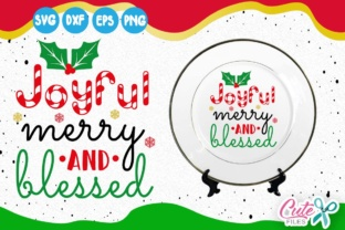 Download Free Joyful Merry And Blessed Candy Cane Holly Leaves Graphic By for Cricut Explore, Silhouette and other cutting machines.