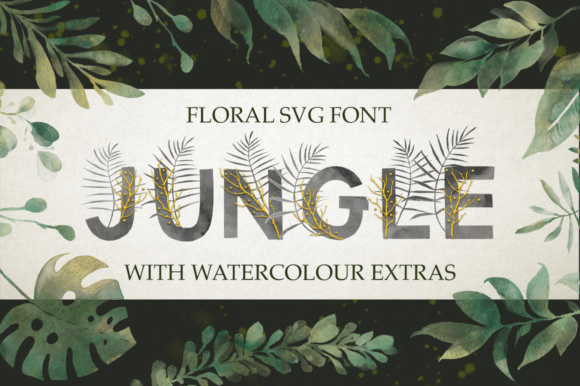 Print on Demand: Jungle Color Fonts Font By Red Ink