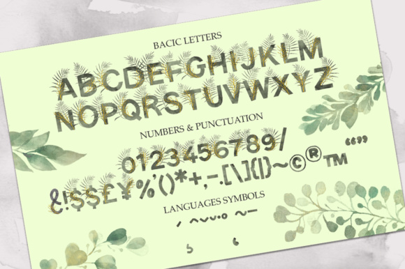 Print on Demand: Jungle Color Fonts Font By Red Ink - Image 8