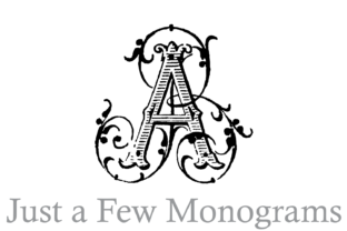 Just a Few Monograms Decorative Font By Intellecta Design