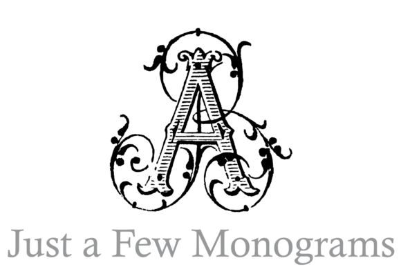 Print on Demand: Just a Few Monograms Decorative Font By Intellecta Design