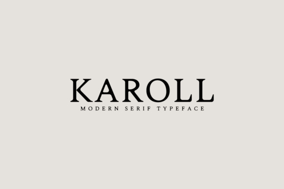 Print on Demand: Karoll Serif Font By Creative Tacos