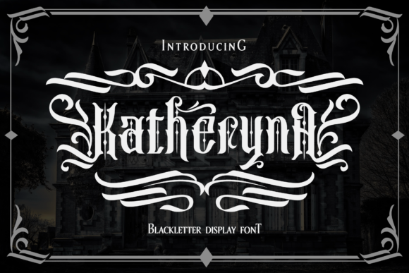 Print on Demand: Katheryna Blackletter Font By Arterfak Project