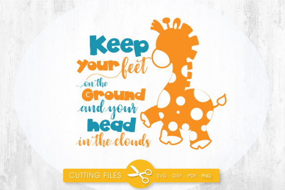 Keep Your Head in the Clouds Graphic Crafts By PrettyCuttables