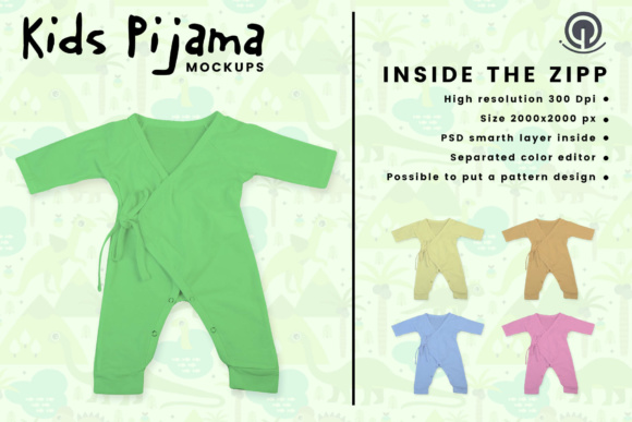 Download Free Kids Pajama Mockup Graphic By Gumacreative Creative Fabrica for Cricut Explore, Silhouette and other cutting machines.
