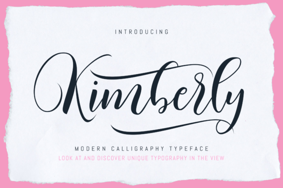 Print on Demand: Kimberly Script Script & Handwritten Font By BonjourType