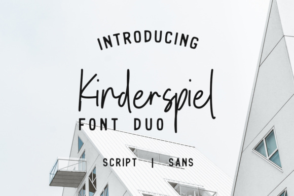 Print on Demand: Kinderspiel Duo Display Font By youthlabs