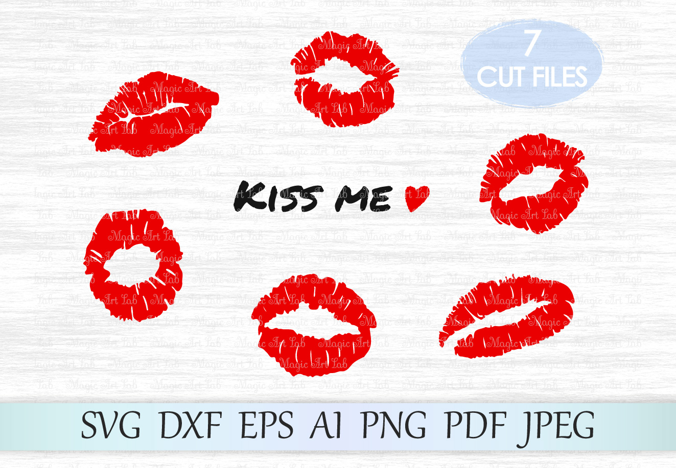 Download Kisses (Graphic) by MagicArtLab · Creative Fabrica
