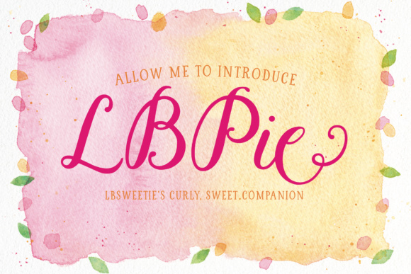 LBPie Font By Laura Bolter Design Image 1