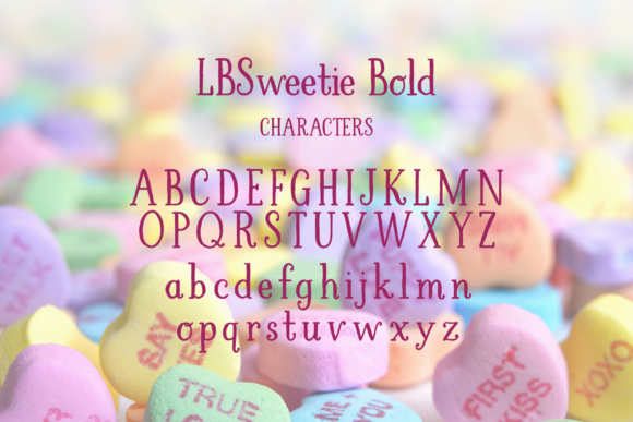 Print on Demand: LBSweetie Bold Script & Handwritten Font By Laura Bolter Design - Image 3