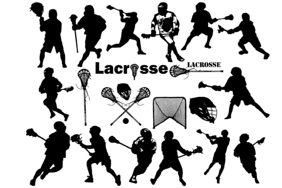 Lacrosse Silhouettes Graphic By twelvepapers