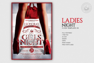 Ladies Night Flyer Template V9 Graphic By ThatsDesignStore