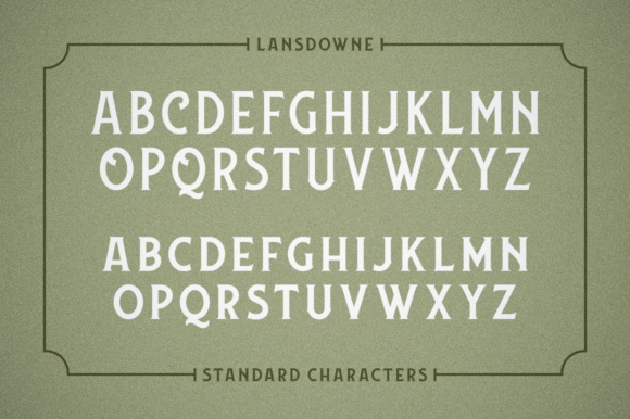 Print on Demand: Lansdowne Display Font By Fontdation - Image 5
