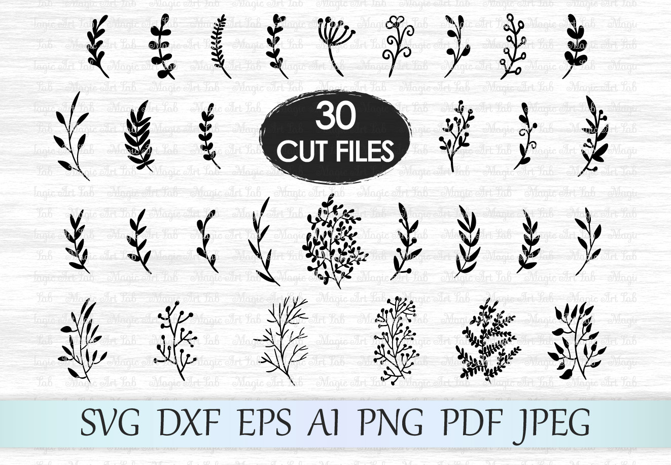Download Free Leaves Graphic By Magicartlab Creative Fabrica for Cricut Explore, Silhouette and other cutting machines.