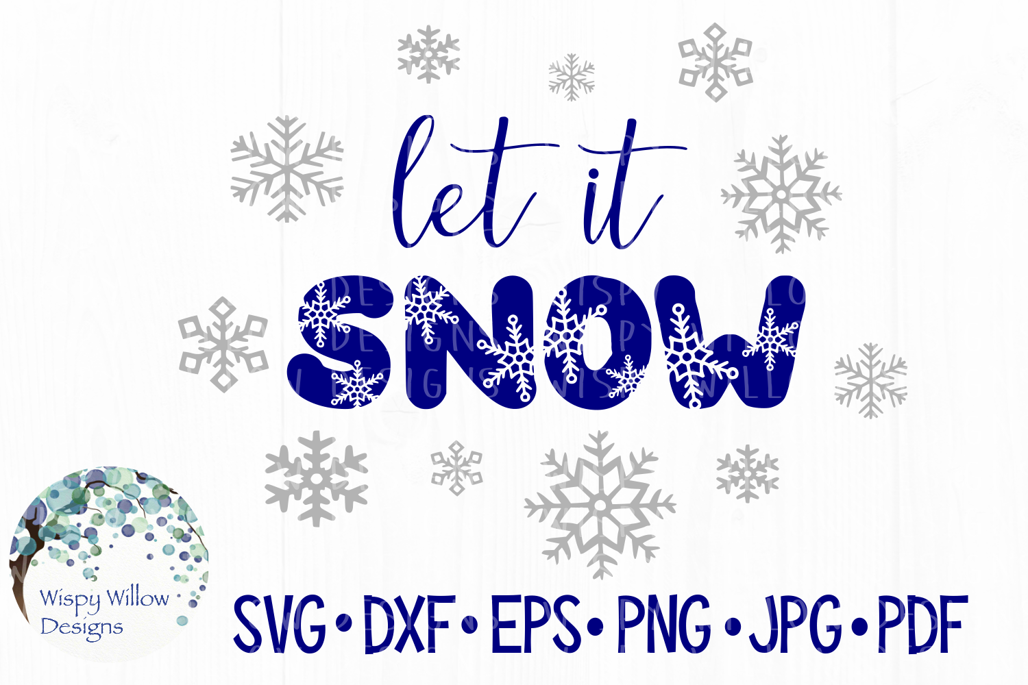 Download Free Let It Snow Winter Snowflake Cut File Graphic By for Cricut Explore, Silhouette and other cutting machines.