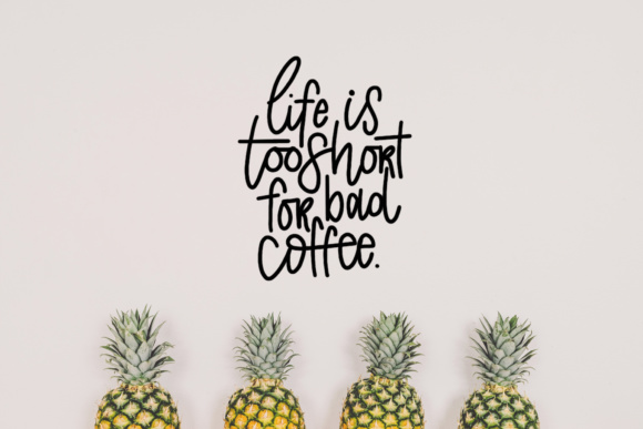 Download Free Life Is Too Short For Bad Coffee Svg Graphic By Missseasonsvinylcuts Creative Fabrica for Cricut Explore, Silhouette and other cutting machines.