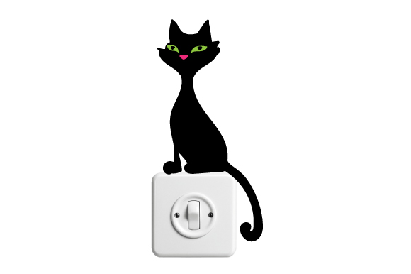 Download Free Lightswitch Sticker Design Svg Cut File By Creative Fabrica for Cricut Explore, Silhouette and other cutting machines.