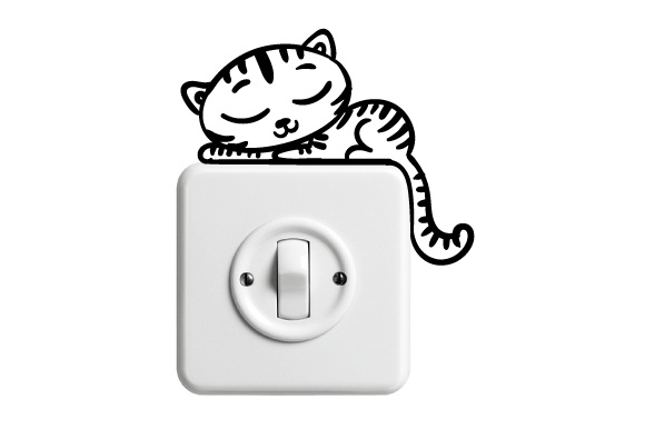 Light Switch Sticker Design Cat Designs & Drawings Craft Cut File By Creative Fabrica Crafts