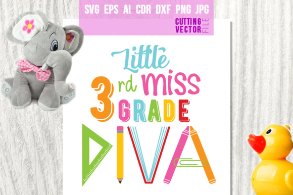 Little Miss 3rd Grade Diva Graphic Crafts By danieladoychinovashop