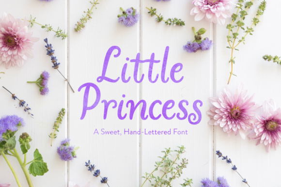 Print on Demand: Little Princess Manuscrita Fuente Por Laura Bolter Design