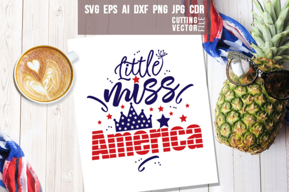 Little Miss America Graphic Crafts By danieladoychinovashop