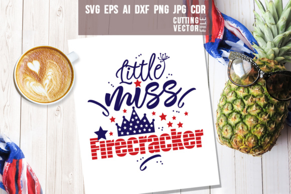 Download Free Little Miss Firecracker Graphic By Danieladoychinovashop for Cricut Explore, Silhouette and other cutting machines.