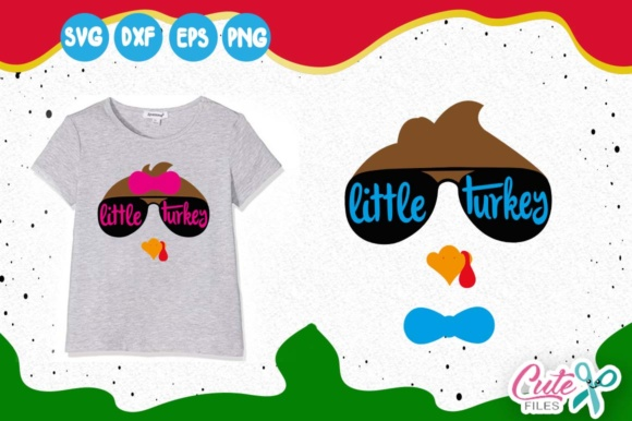 Little Turkey, Thanksgiving Svg Graphic Illustrations By Cute files