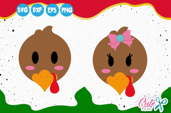 Little Turkey, Turkey Face, Thanksgiving Svg, Fall Yall Svg Graphic Illustrations By Cute files
