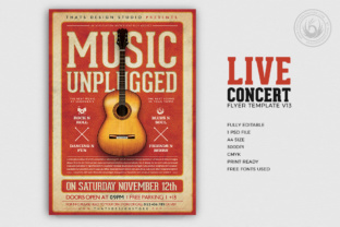 Live Concert Flyer Template V13 Graphic By ThatsDesignStore