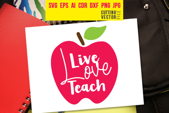 Live Love Teach Graphic Crafts By danieladoychinovashop
