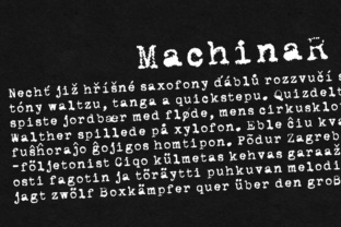 MachinaR Font By grin3