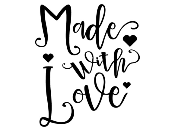Download Free Made With Love Vector File Cut Files Graphic By Goran Stojanovic for Cricut Explore, Silhouette and other cutting machines.