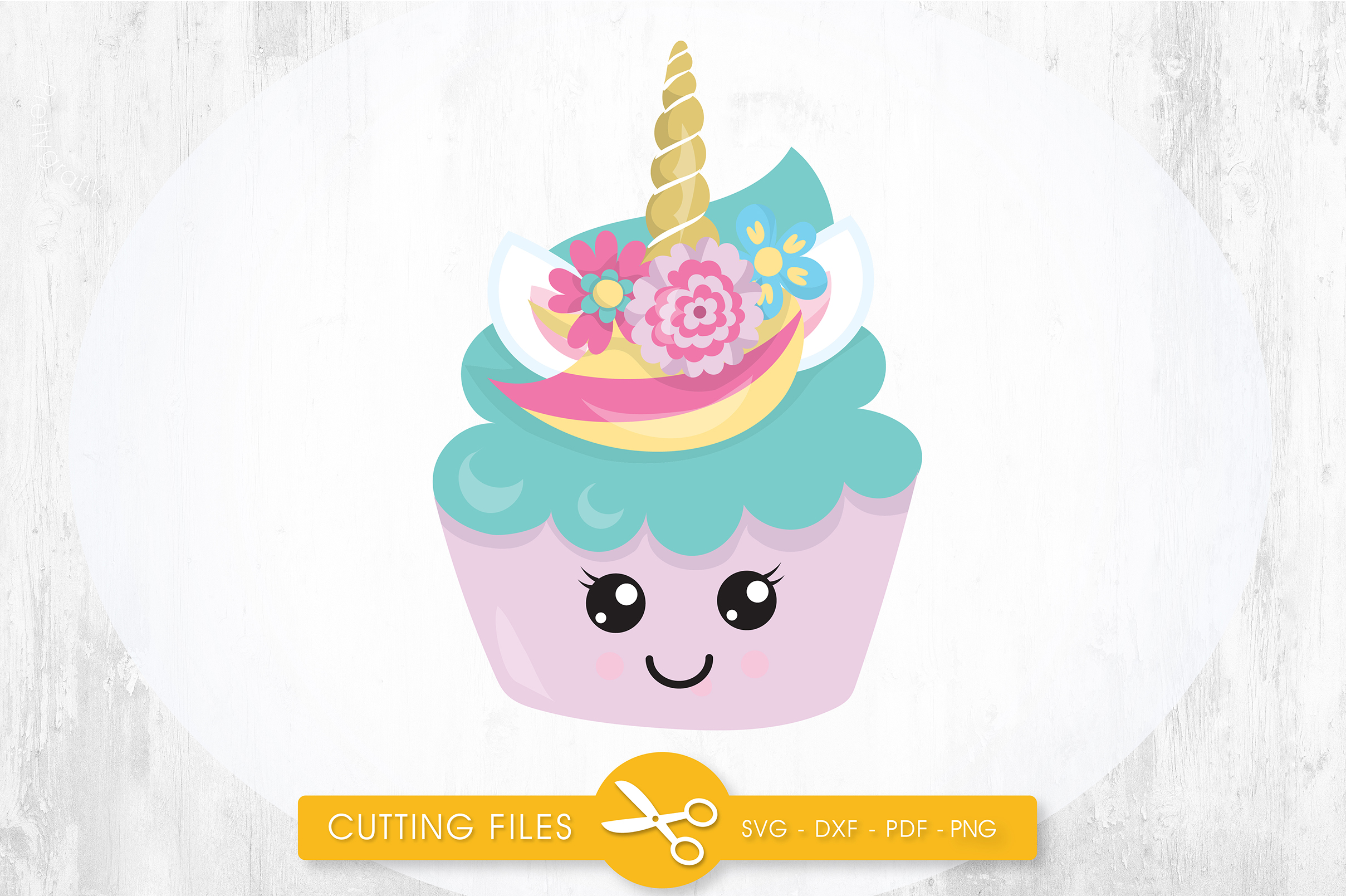 Download Free Magical Unicupcake Graphic By Prettycuttables Creative Fabrica for Cricut Explore, Silhouette and other cutting machines.