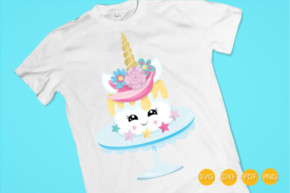 Magical Unicake Graphic Crafts By PrettyCuttables - Image 2
